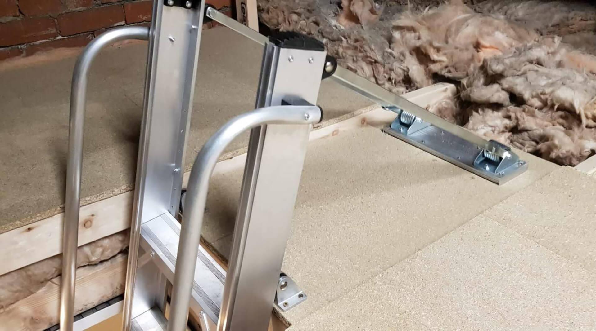 Loft boarding, hatches, ladder