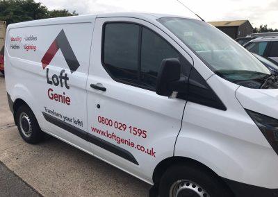 Loft Genie - Loft Boarding branded van