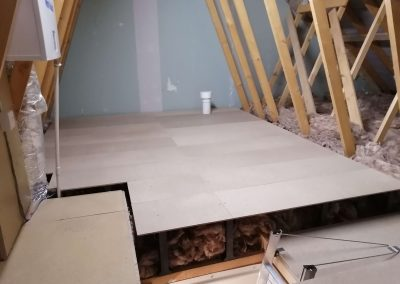 Loft flooring after insulation