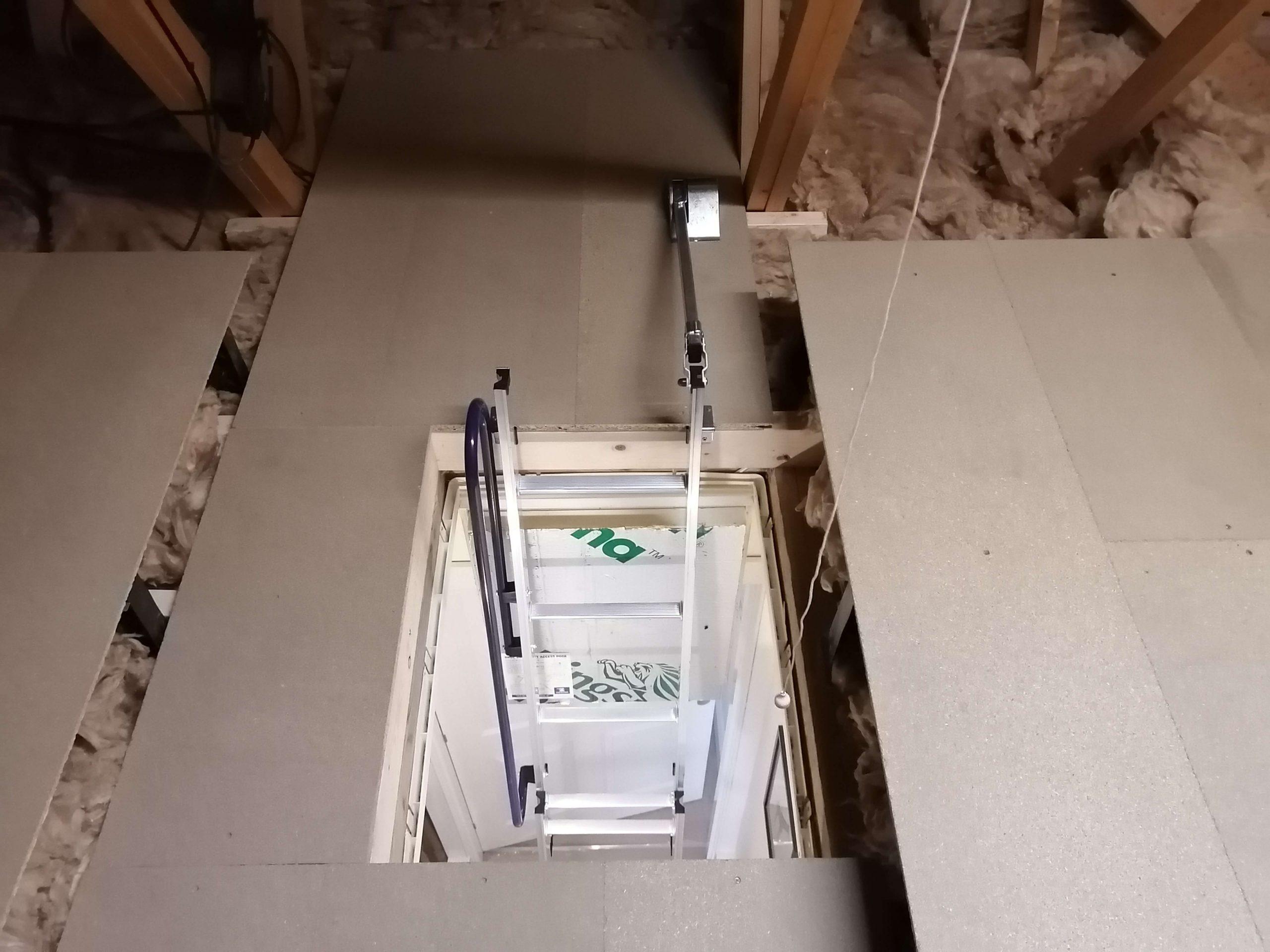 Easy Stow Ladder by LoftGenie